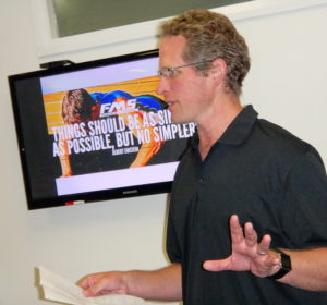 Anthony presenting at a workshop