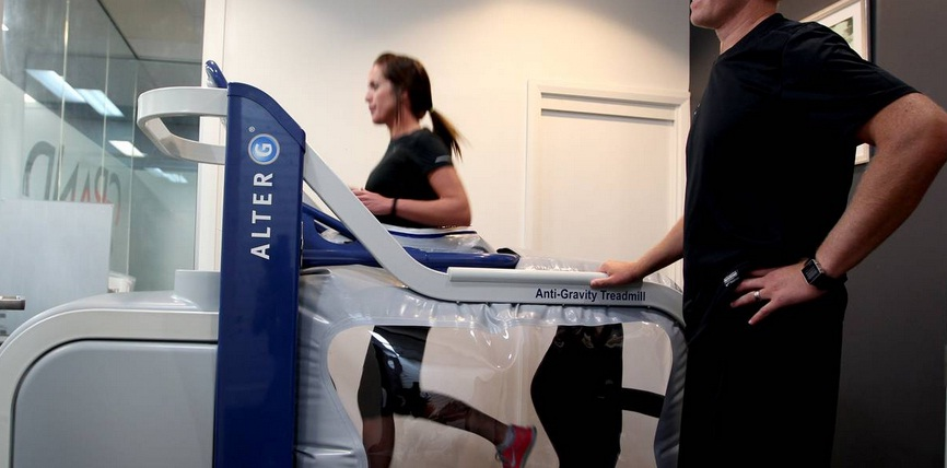 Newcastle's first Alter G at Grandstand Sports Injury Clinic